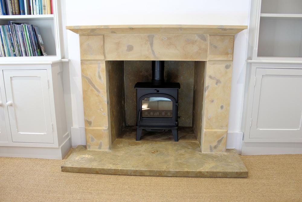 Sherborne Stone bespoke fireplace