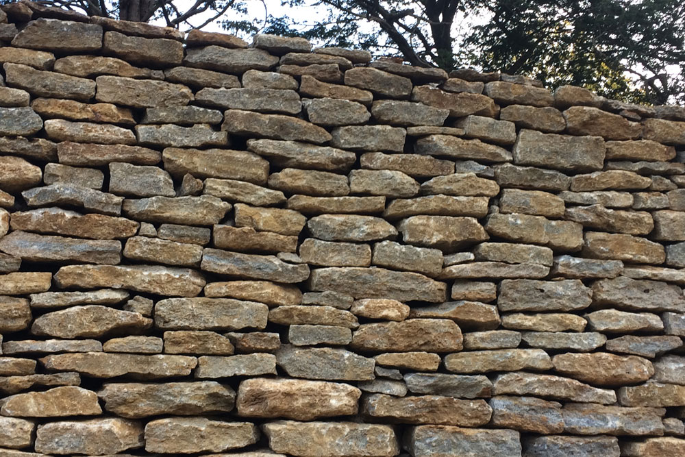 marble dry stone walling